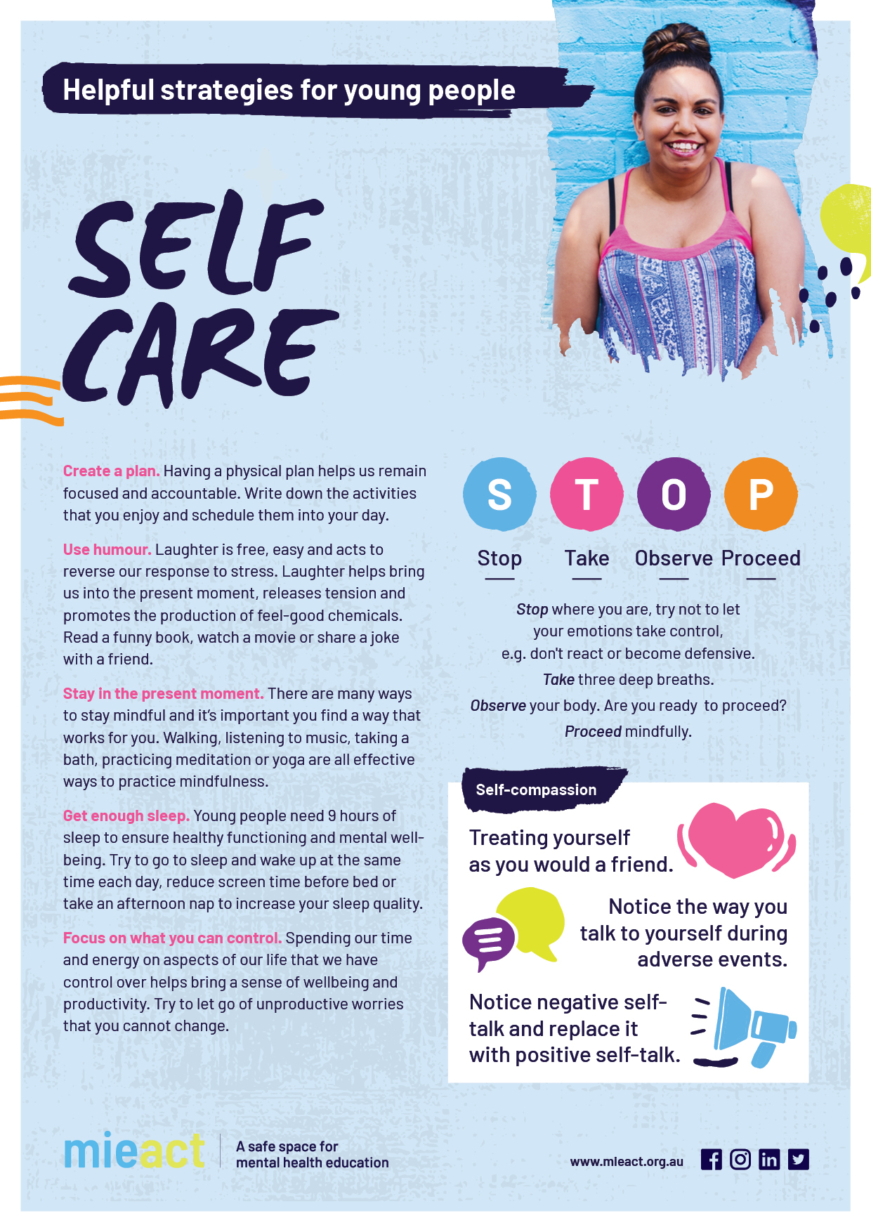 Helpful Strategies Youth A4 Resource